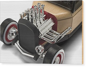 Wood Print featuring the photograph Vintage Hot Rod Engine by Gianfranco Weiss