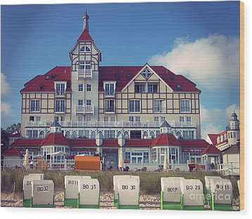 Wood Print featuring the photograph Vintage Hotel Baltic Sea by Art Photography