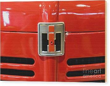 Vintage International Harvester Tractor Badge Wood Print by Paul Ward