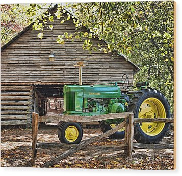 Vintage Wood Print by Kenny Francis