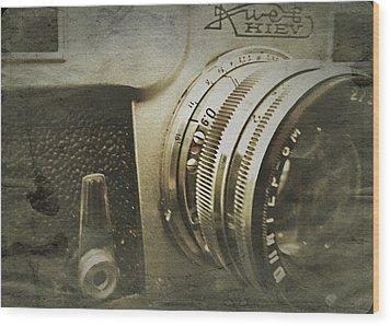 Vintage Kiev Camera Wood Print