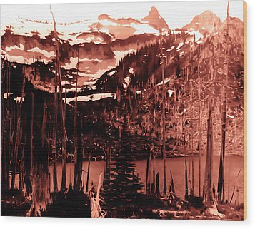 Wood Print featuring the photograph Vintage Lake Louise Early 1900 Era... by Eddie Eastwood