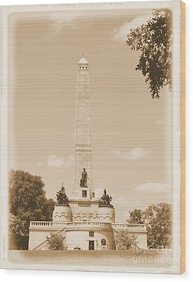 Vintage Lincoln's Tomb Wood Print by Luther Fine Art