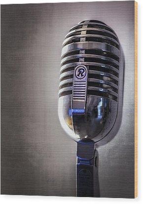 Vintage Microphone 2 Wood Print by Scott Norris
