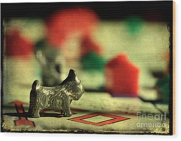 Vintage Monopoly Wood Print by Michael Eingle