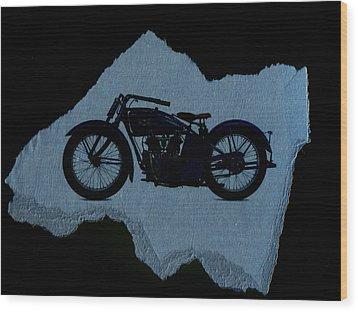 Vintage Motorcycle Wood Print by David Ridley