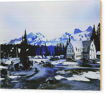 Vintage Mount Rainier Camp And Store Supplies Early 1900 Era... Wood Print