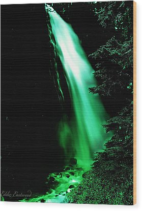 Wood Print featuring the photograph Vintage Narada Falls Early 1900 Era... by Eddie Eastwood