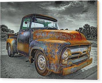 Vintage  Pickup Truck Wood Print