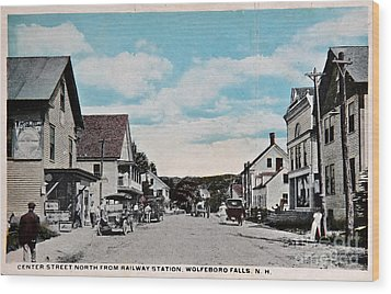 Vintage Postcard Of Wolfeboro New Hampshire Art Prints Wood Print by Valerie Garner
