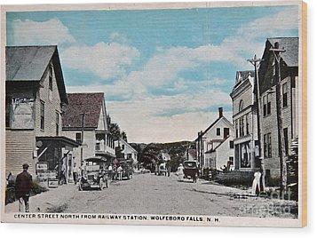 Vintage Postcard Of Wolfeboro New Hampshire Art Prints Wood Print