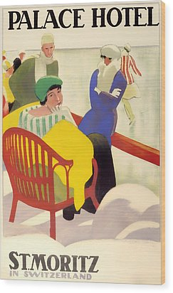 Vintage Poster 1936 Wood Print by Mountain Dreams