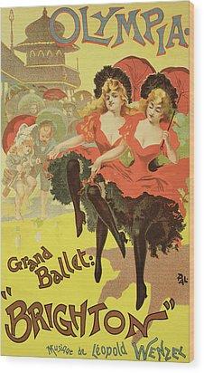 Vintage Poster   Brighton Wood Print by Pal