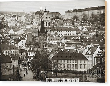 Vintage Prague Wood Print by John Rizzuto