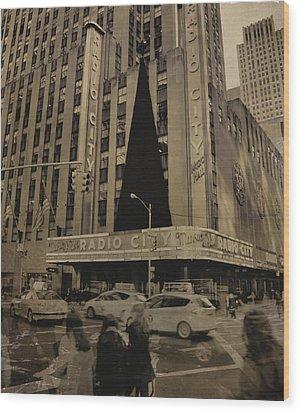 Vintage Radio City Music Hall Wood Print by Dan Sproul