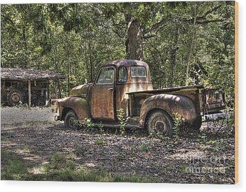 Vintage Rust Wood Print by Benanne Stiens