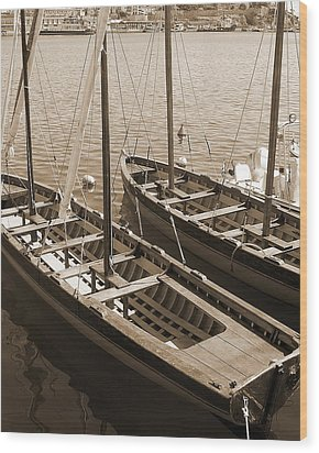 Wood Print featuring the photograph Vintage Sail by Tamyra Crossley