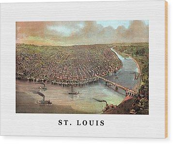 Vintage Saint Louis Missouri Wood Print by War Is Hell Store