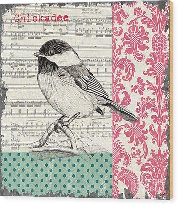 Vintage Songbird 3 Wood Print by Debbie DeWitt