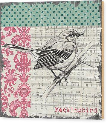 Vintage Songbird 4 Wood Print by Debbie DeWitt