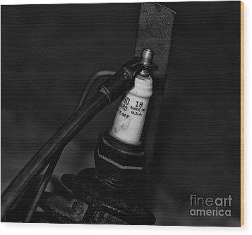 Vintage Spark Plug  6  Wood Print by Wilma  Birdwell