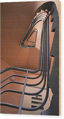 Vintage Spiral Stairs Wood Print