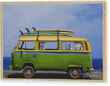 Vintage Surf Van Wood Print
