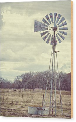 Vintage Texas  Wood Print by Kimberly Danner