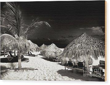 Vintage Tikis Wood Print by John Rizzuto
