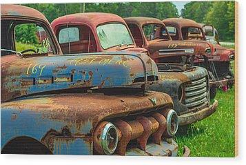 Vintage Trucks 2 Wood Print