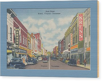 Vintage Va Tn Postcard Kress  Wood Print