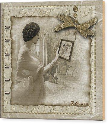 Vintage Vanity Wood Print by Giada Rossi