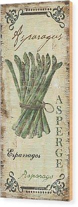 Vintage Vegetables 1 Wood Print by Debbie DeWitt