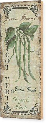 Vintage Vegetables 2 Wood Print by Debbie DeWitt