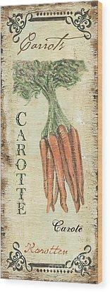 Vintage Vegetables 4 Wood Print by Debbie DeWitt