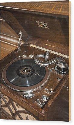 Vintage Vinyl Wood Print by Svetlana Sewell