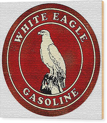 Vintage White Eagle Gasoline Metal Sign Wood Print
