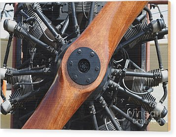 Vintage Wood Propeller - 7d15828 Wood Print by Wingsdomain Art and Photography