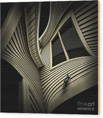 Vinyl Geometry Wood Print by Walt Foegelle