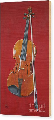 Viola Wood Print by Jimmie Bartlett