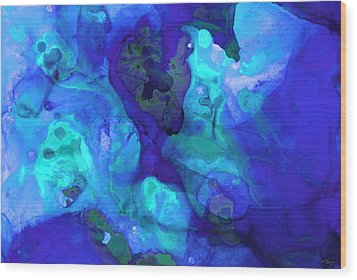 Violet Blue - Abstract Art By Sharon Cummings Wood Print by Sharon Cummings