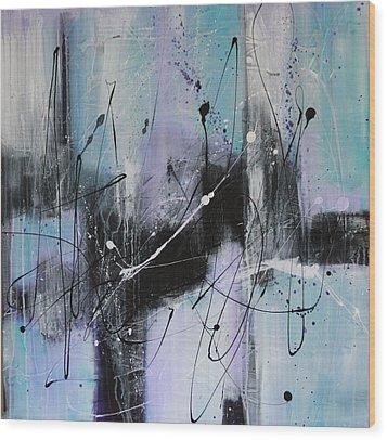 Violet Fields Wood Print by Lauren Petit