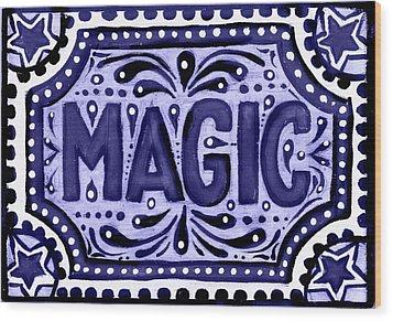 Violet Magic  Wood Print