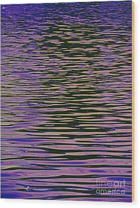 Violet Ripples Wood Print by Andy Heavens