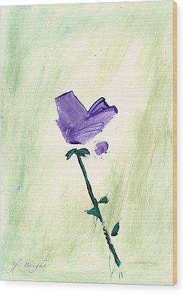 Violet Solo Wood Print