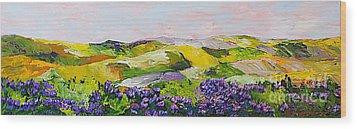 Violet Sunrise Wood Print by Allan P Friedlander