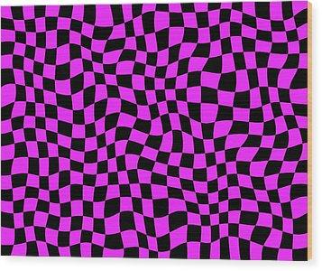 Violet Warped Polygons Wood Print by Daniel Hagerman