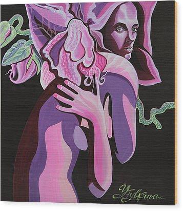Violet Wood Print by Yelena Tylkina