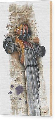 Violin 01 Elena Yakubovich Wood Print