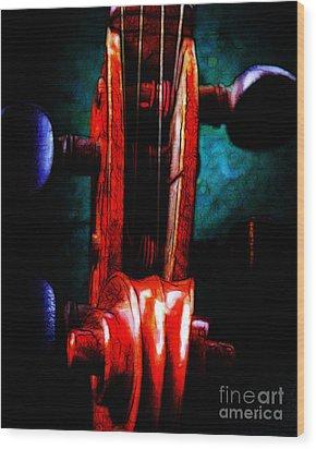 Violin 2 - V2 Wood Print by Wingsdomain Art and Photography